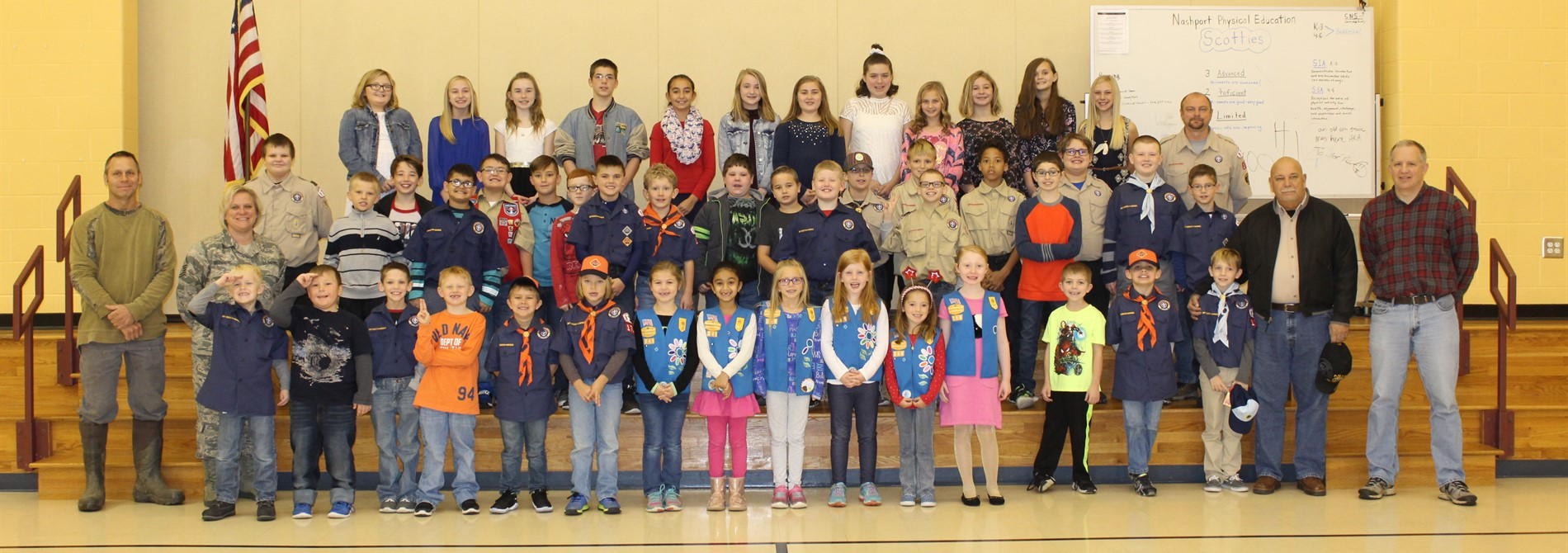 Nashport students and staff celebrate Veterans day with local veterans.  Thank you for your service!