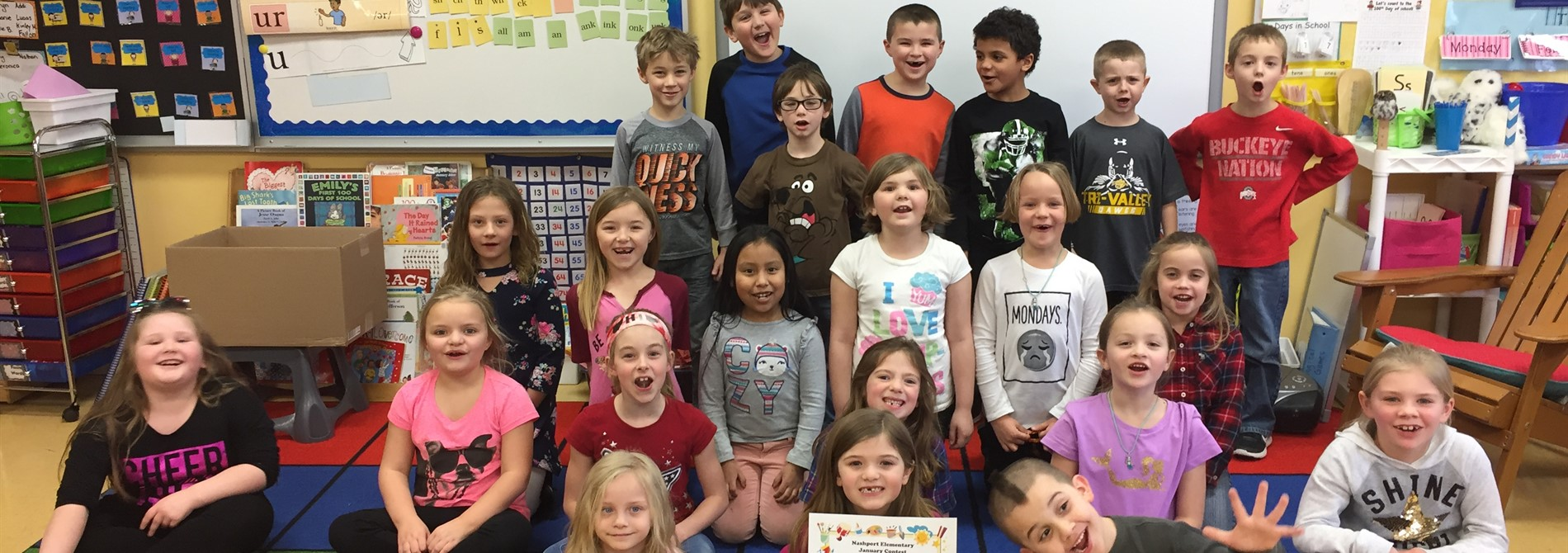 Mrs. Tracy's class collected 272 box tops to win the January award!