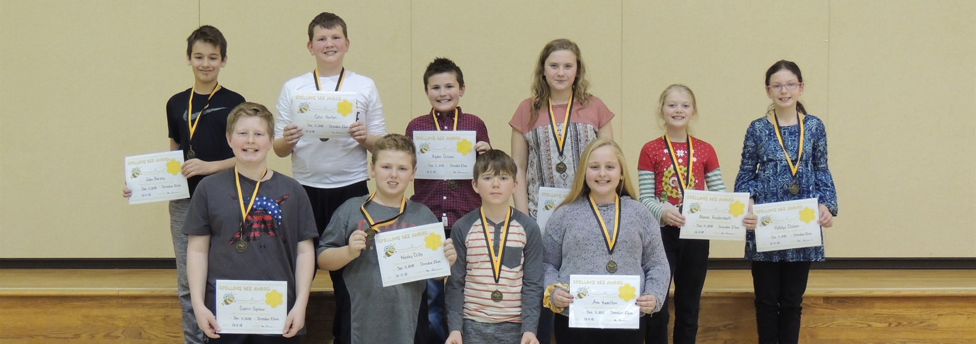 Congrats top 10 Building Spelling Bee