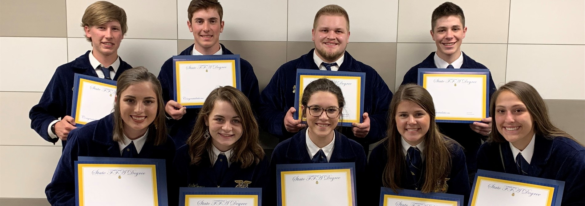 At the annual Ohio State FFA Convention several Tri-Valley members received their State Degrees!