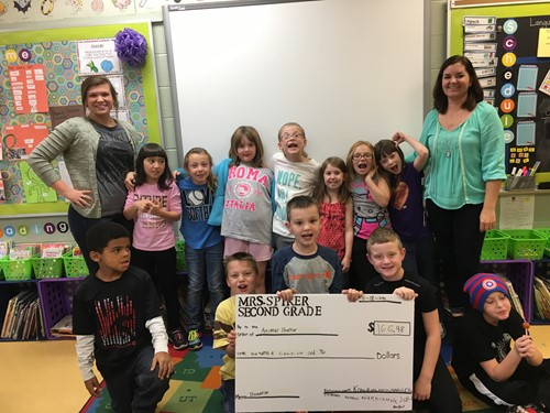 Mrs. Spiker's Class and Student Teacher Miss Burch raise over $160 for the local animal shelter!