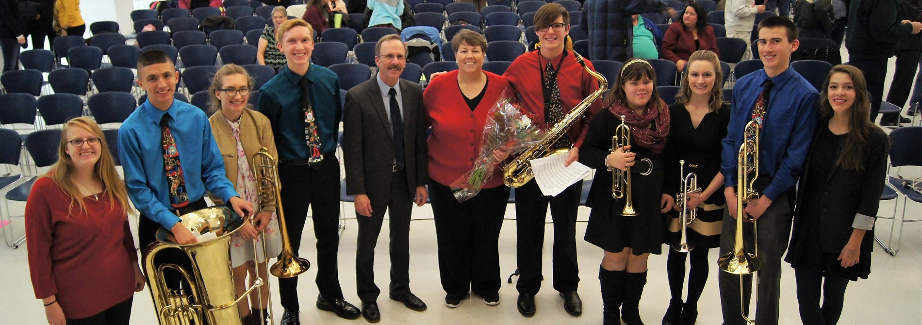 Senior Band Members - Winter Holiday Concert