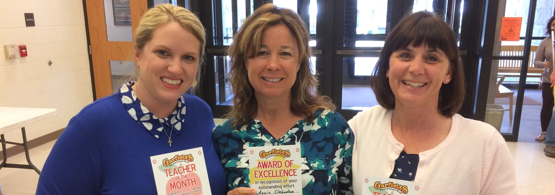 April Teachers of the Month - Mrs. Heil, Mrs. Slaboden & Mrs. Kozlowski