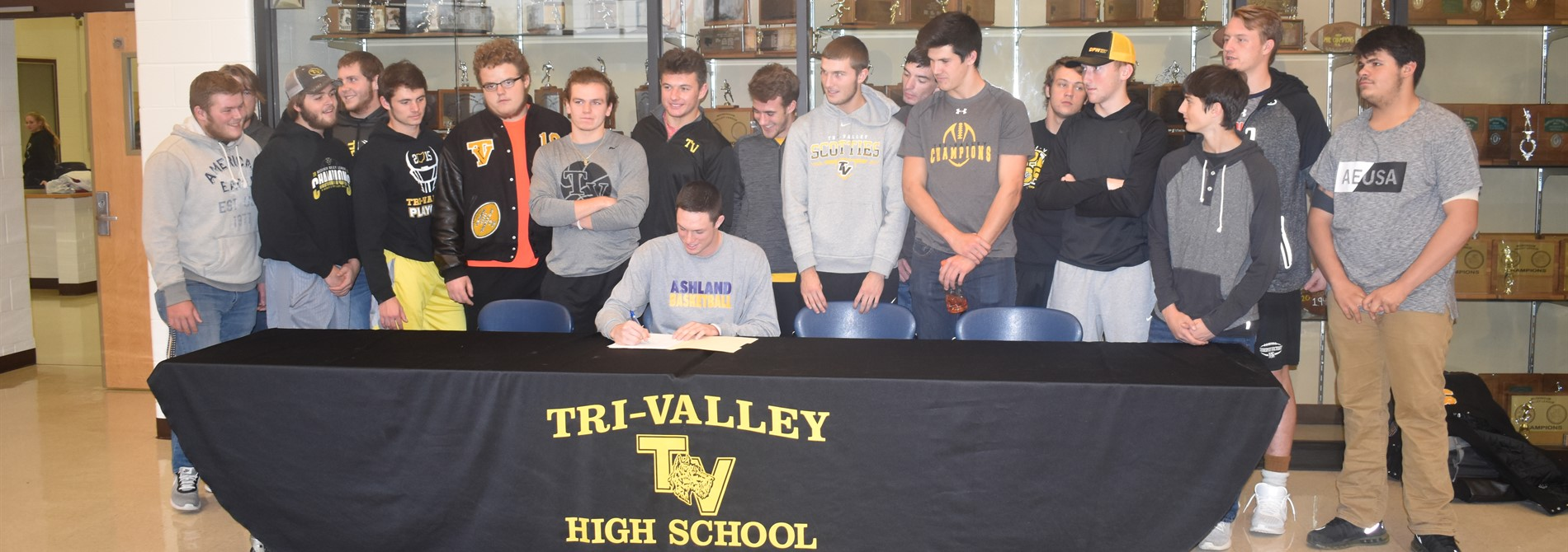 Jake McLoughlin signs with Ashland University on a Basketball Scholarship