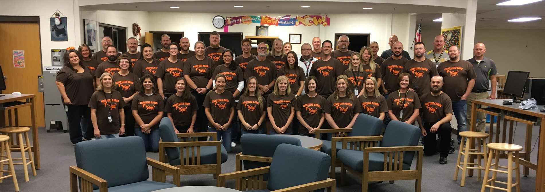 Staff showing support for Mr. Merce
