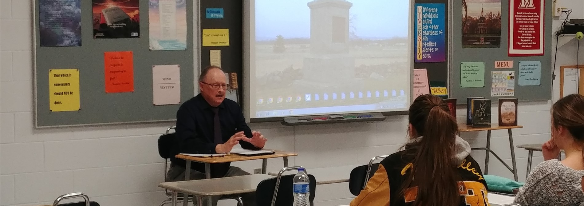 Author Mr. Karl Bacon visits Mr. Prince's Civil War and English Classes
