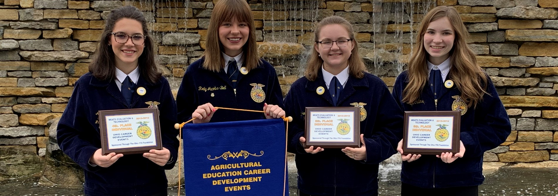 FFA Meats & Technology Team received 2nd Place Award State Banner!