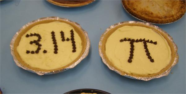 Fifth graders enjoyed Pi Day with pie!